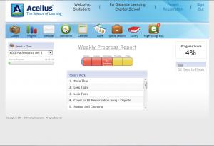 Acellus Student Progress Screen