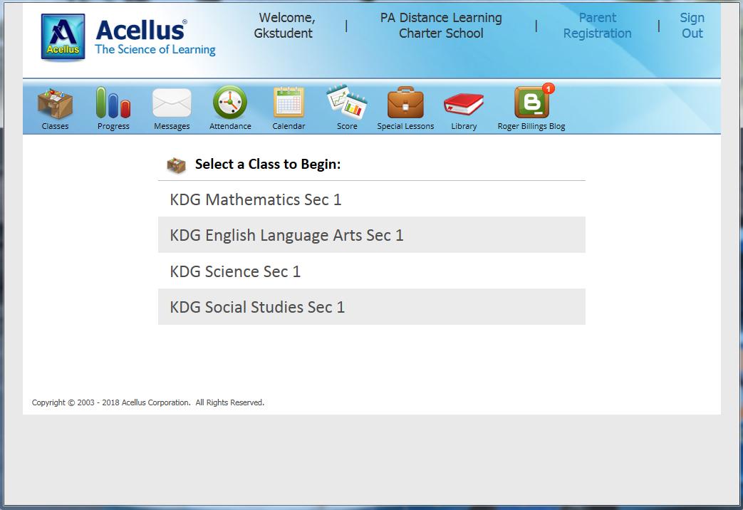 Acellus Class List